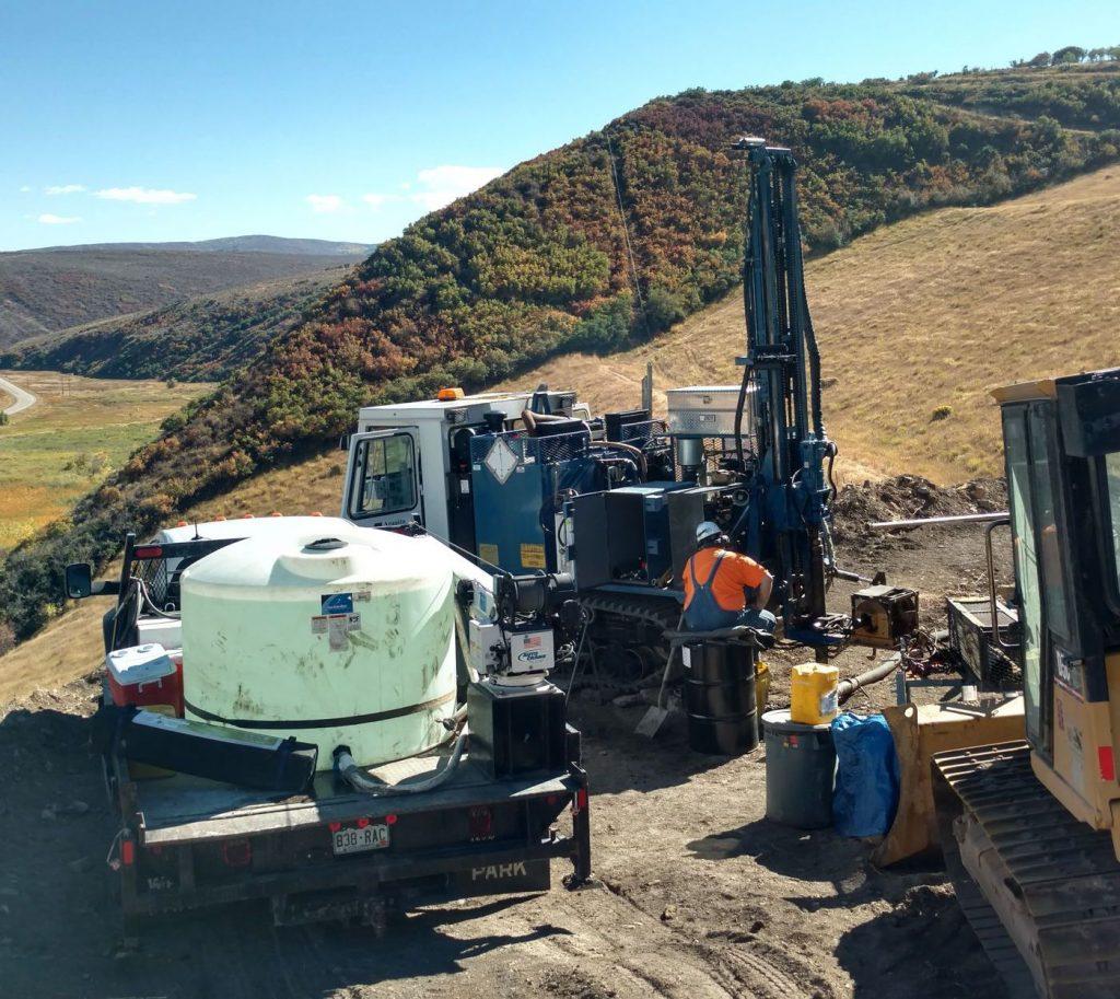 Axial Coal Mine Fire Drilling, Colorado