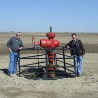 Max Ramey and Mike Hardy at Potash One Wellhead