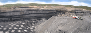 Cross-sectional view of Trapper open pit wall